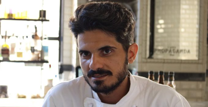 FABIO PECELLI LO CHEF DEL RISTORANTE CAFFE' PROPAGANDA ROMA